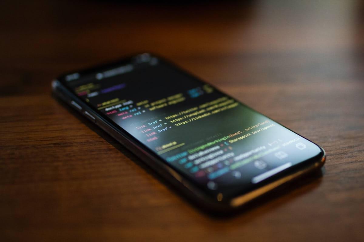turned on black Android smartphone.jpg