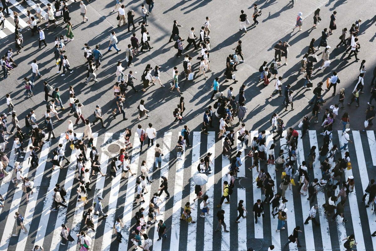 aerial view of people walking on raod.jpg