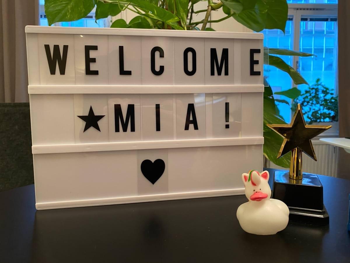 välkommen Mia!
