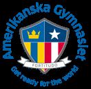 Amerikanska Gymnasiet logotype