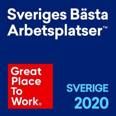 Sveriges bästa arbetsplatser 2020