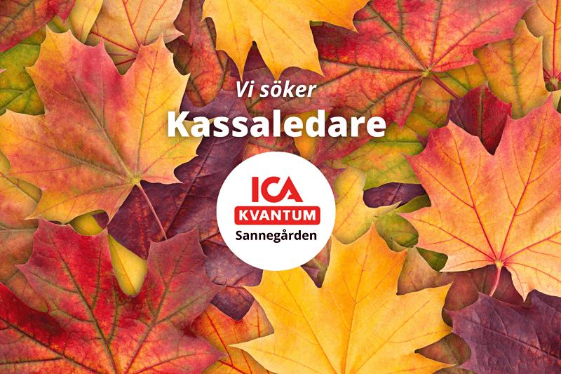 ICA Kvantum Sannegården söker kassaledare! image