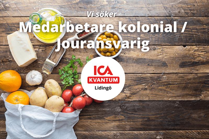 ICA Kvantum Lidingö söker medarbetare kolonial / jouransvarig image