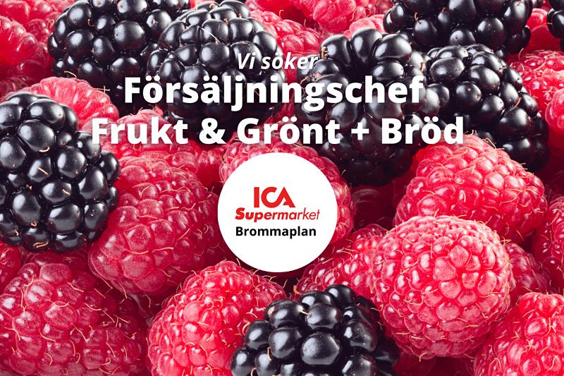 ICA Supermarket Brommaplan söker Försäljningschef Frukt & Grönt + Bröd! image