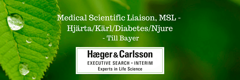 Medical Scientific Liaison, MSL, Hjärta/Kärl/Diabetes/Njure - Bayer image