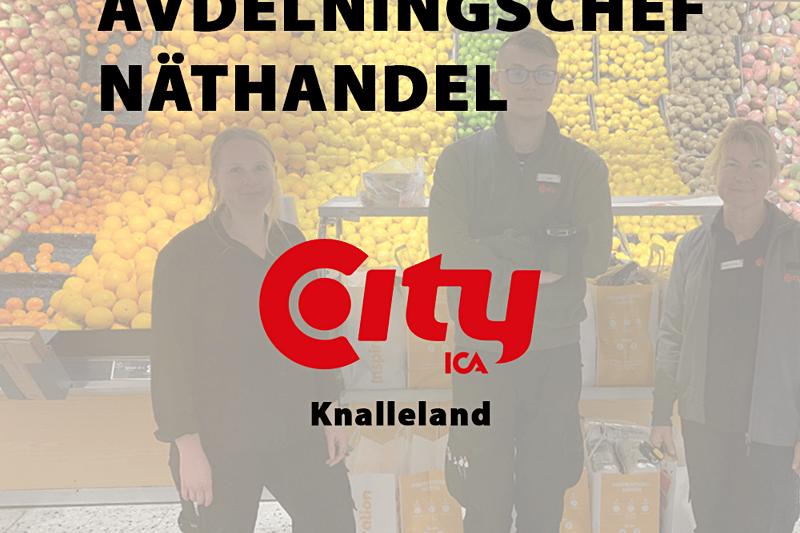 Nu söker ICA City Knalleland en Avdelningschef Näthandel image