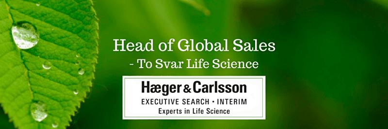 Head of Global Sales - Svar Life Science image