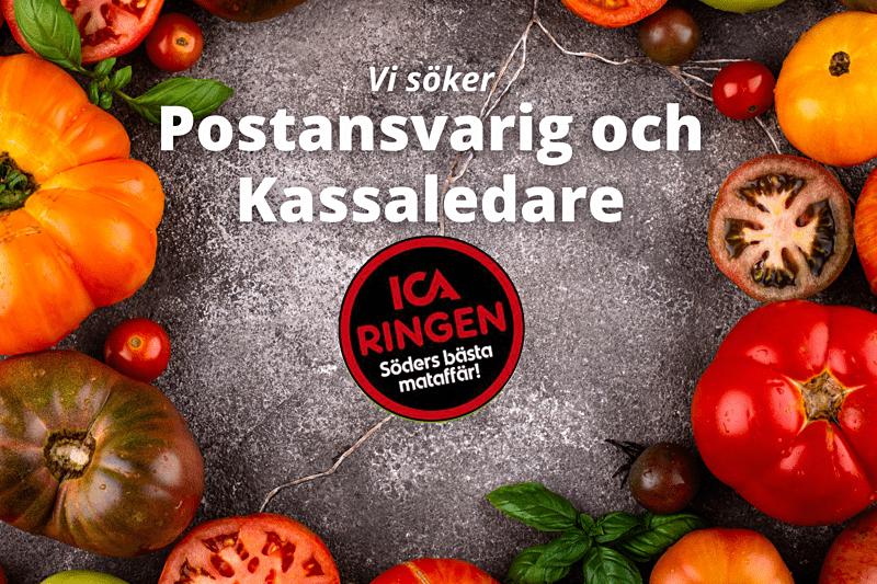 Postansvarig och Kassaledare till ICA Ringen, Söders bästa mataffär! image
