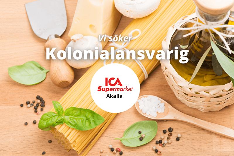 ICA Supermarket Akalla söker Kolonialansvarig! image