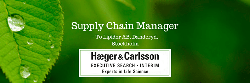 Supply Chain Manager - Lipidor AB, Danderyd, Stockholm image