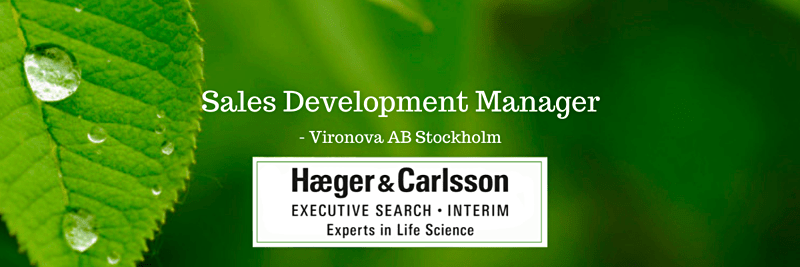 Sales Development Manager - Vironova AB, Stockholm image