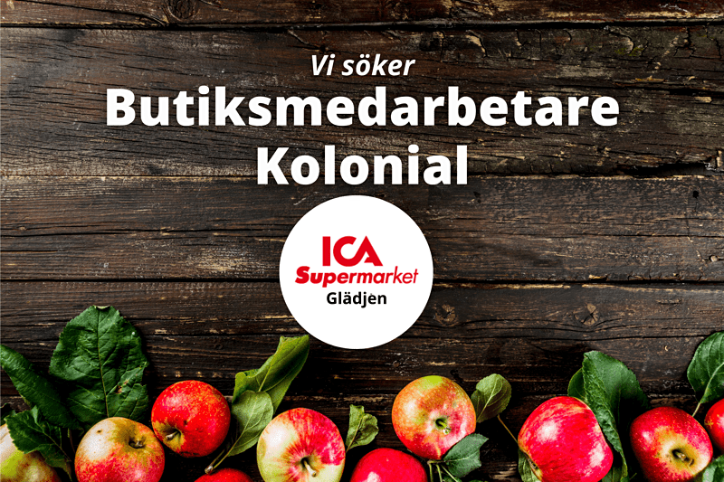 Butiksmedarbetare Kolonial till ICA Supermarket Glädjen image