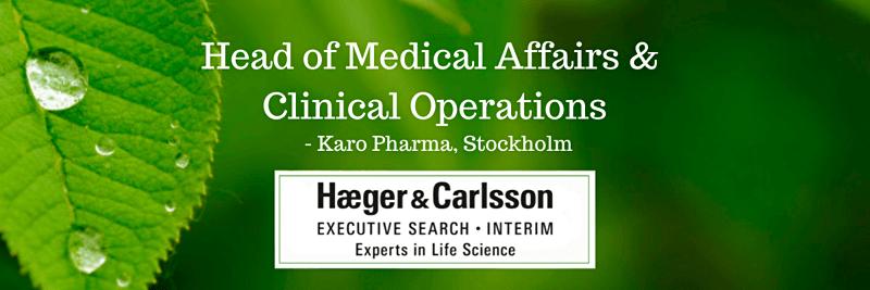 Head of Medical Affairs & Clinical Operations - Karo Pharma image